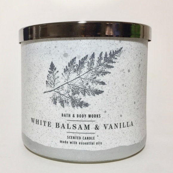 WHITE BALSAM & VANILLA 3 Wick Candle